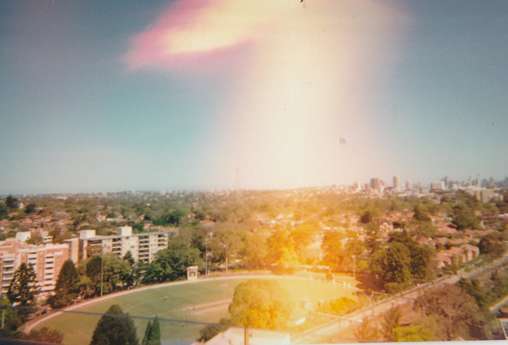 A view from our old apartment on a Summer's day. Chatswood, December 2017.