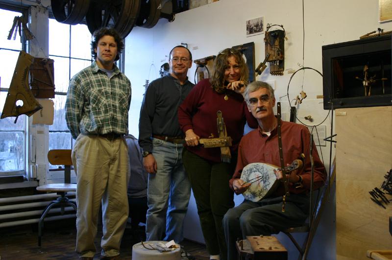 "The American Pianista Ensemble: From left to right: Michael Frassinelli,Paul ""Mix"" Masterson,Joan Redbird Pennington,John Edmond Richardson"