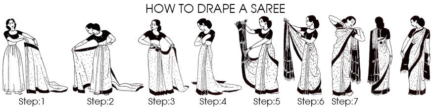 drape a sari
