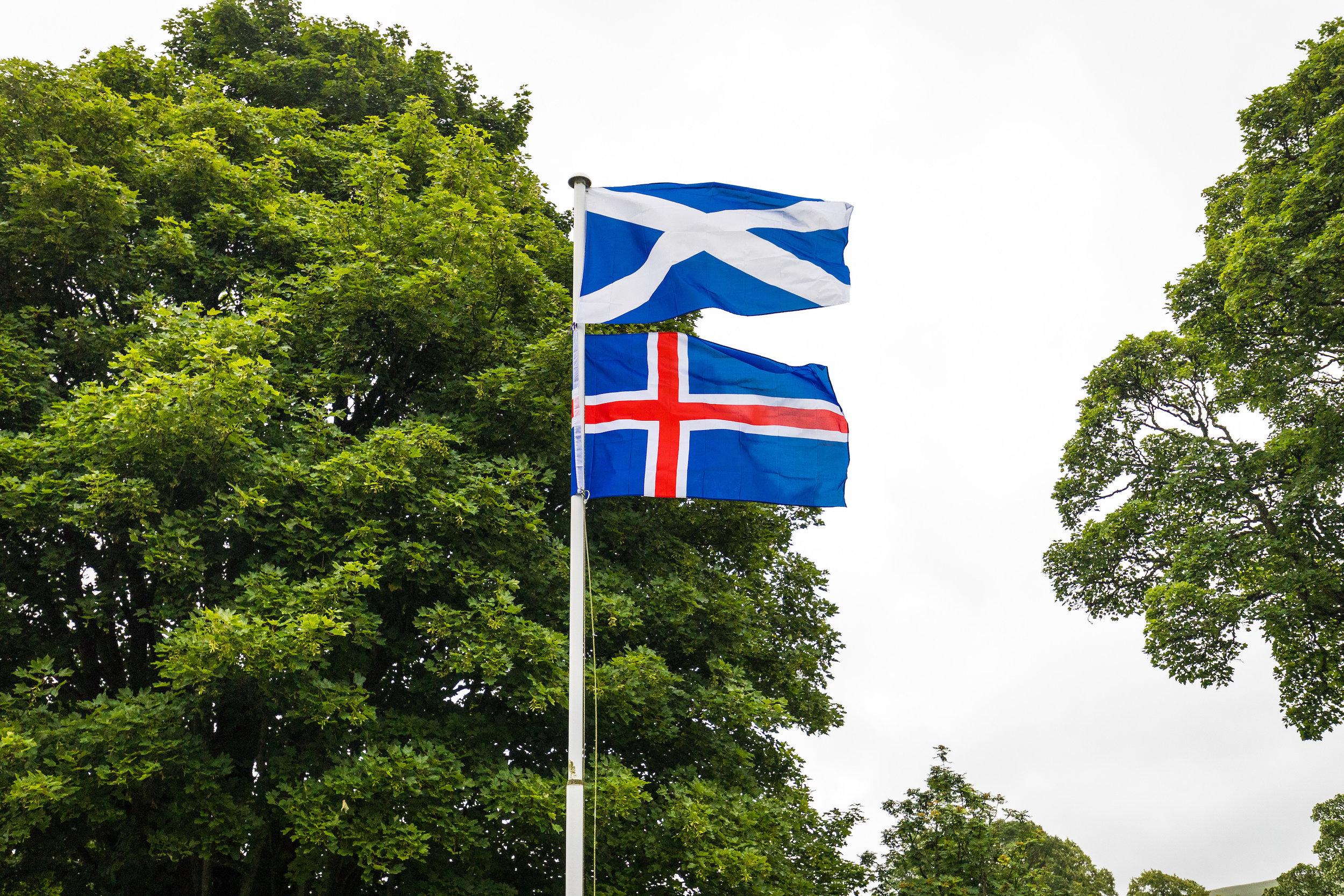 Icelandic Scottish flag