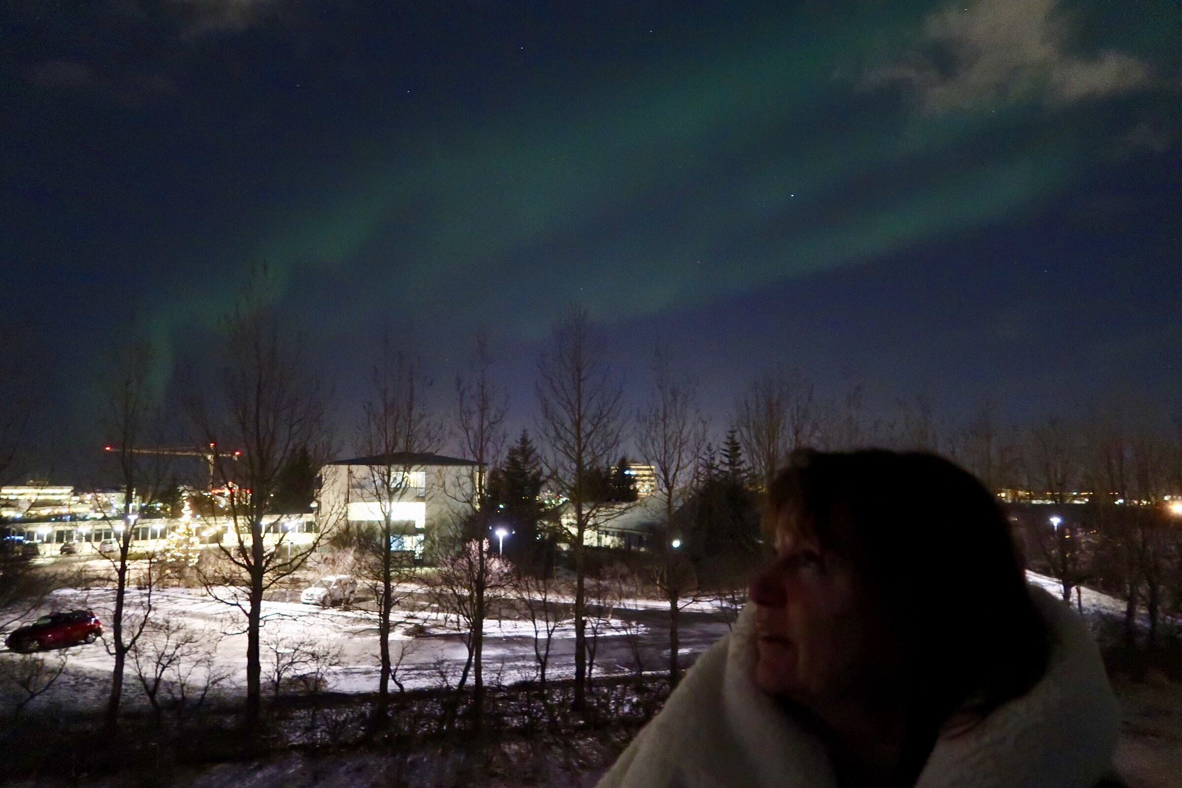 portrait with Northern Lights