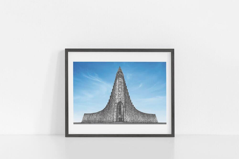 HALLGRIMSKIRKJA | Hallgrímskirkja, Reykjavik, Iceland | Icelandic Architecture | Icelandic Print | Made In Iceland