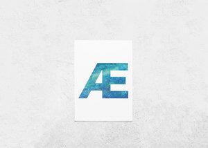 ICELANDIC LETTERS | Icelandic Alphabet | Aurora Borealis / Northern Lights | Icelandic Letter Print | Watercolour