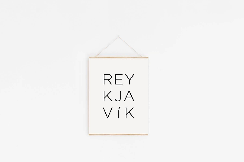 REYKJAVIK PRINT | Harpa . Hallgrimskirkja . Perlan | Iceland | Icelandic Phrase | Icelandic Print | Made In Iceland