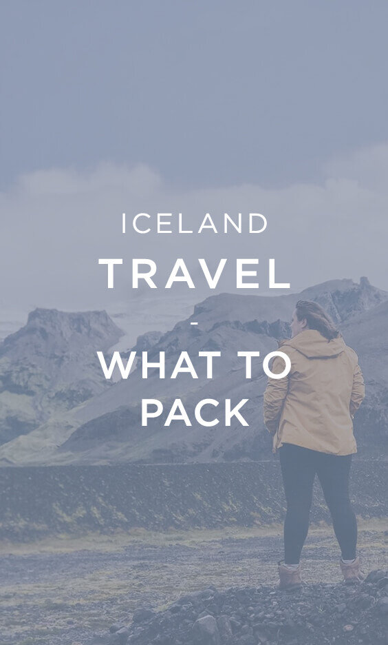 Iceland Travel What to pack