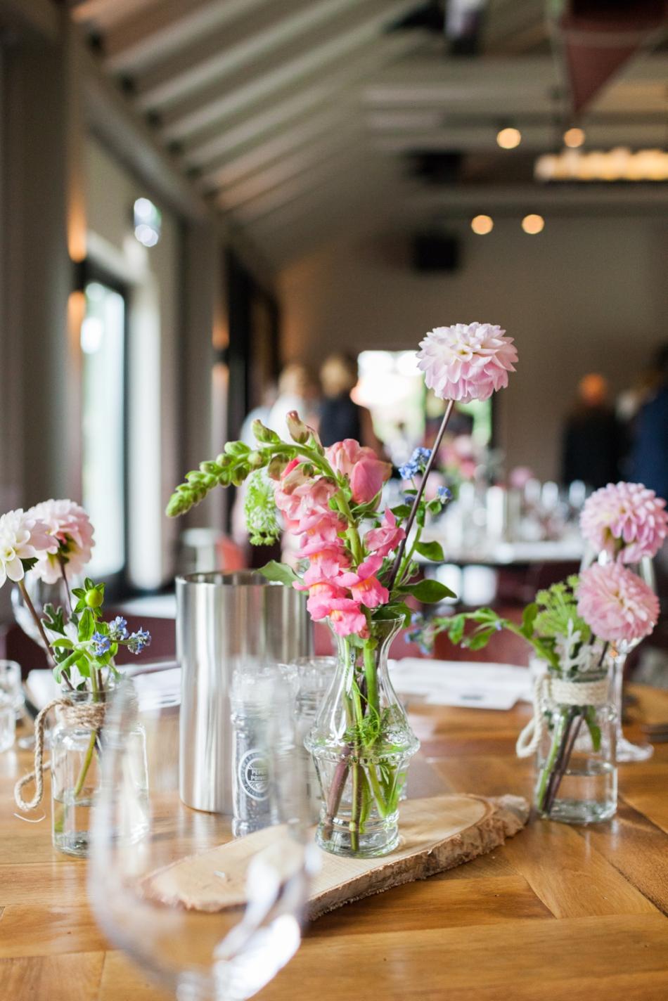 Bruiloft styling in Restaurant Villa Welgelegen