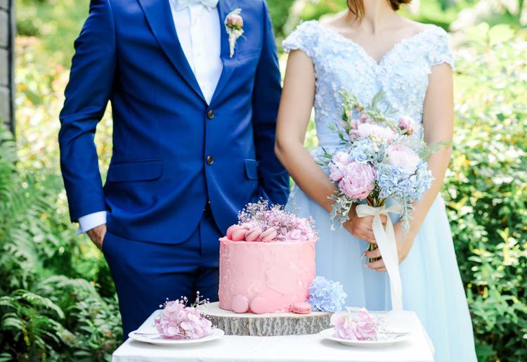 Sweet Table in de kleuren Roze Quarts en Serenity