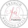 badge french wedding style