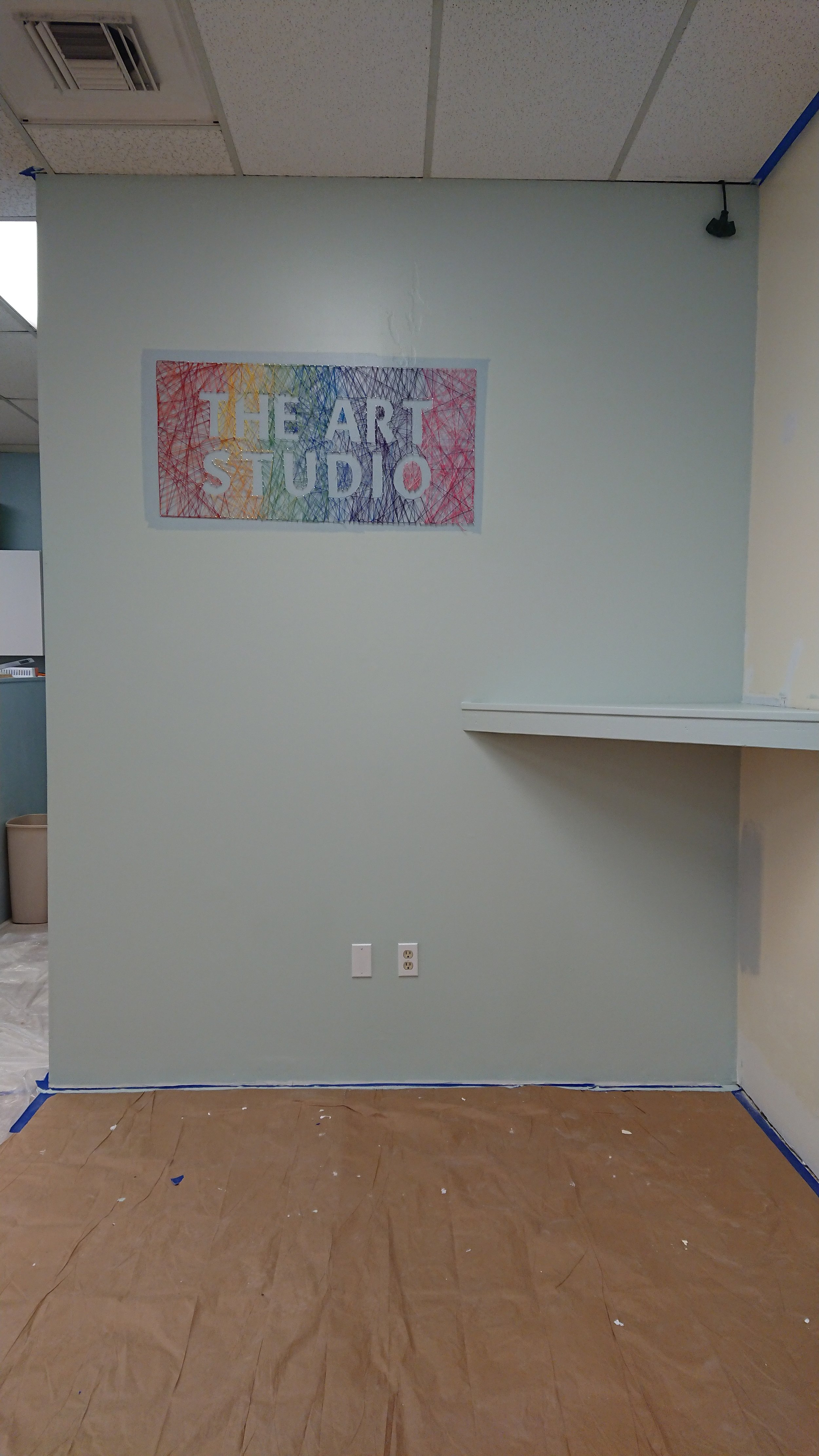 "The Art Studio wall is now pale green… Well technically it's called ""Breezeway"""