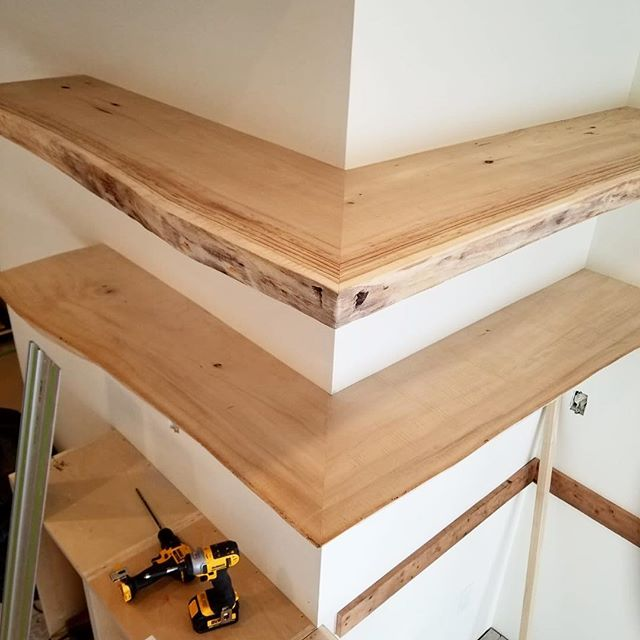 Fitting some live edge cottonwood shelves.  Material was sourced from Last Mountain Timber.  This project has so many cool details stay tuned.