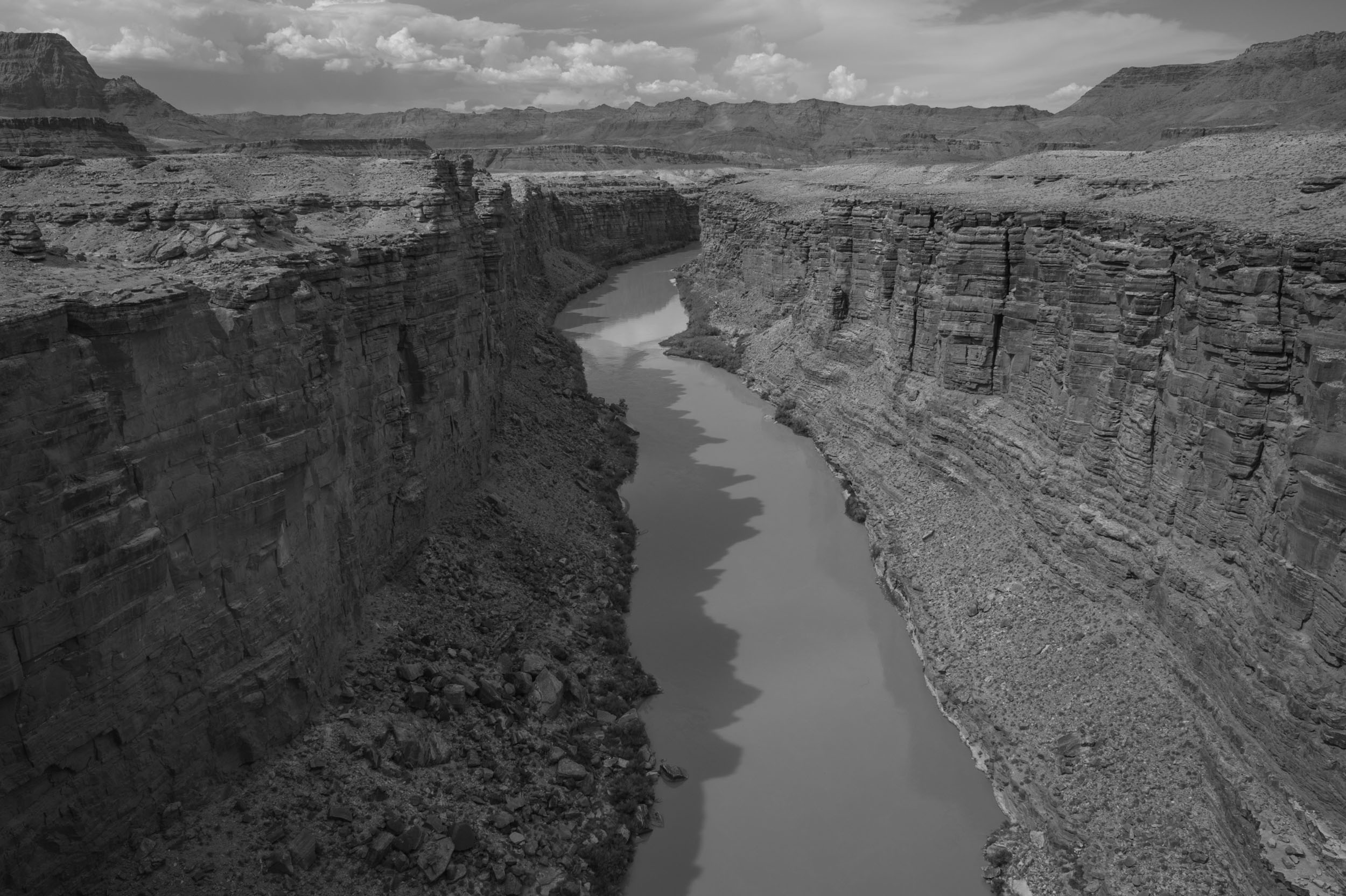 Looking north up the Colorado River from Navajo Bridge on the Navajo Nation, Arizona.