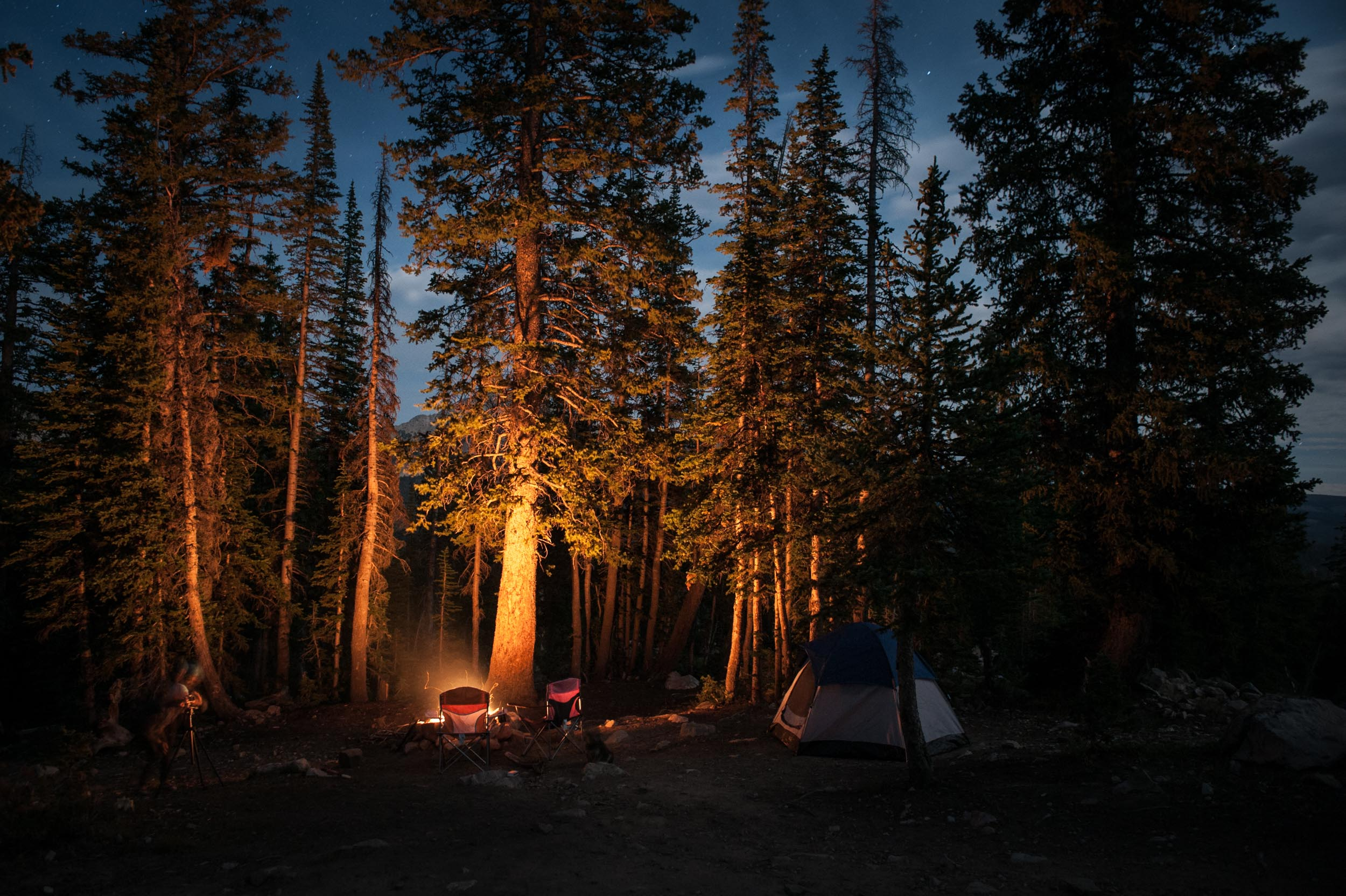 A campground in the High Uinta Wilderness.Utah.