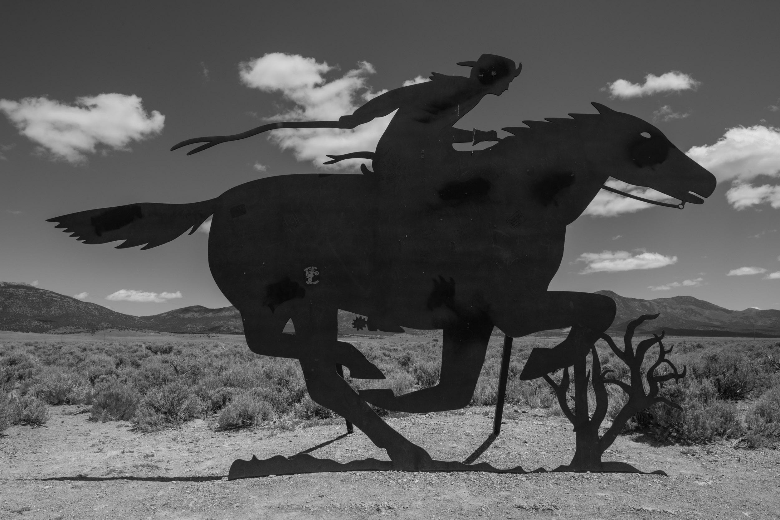 Pony Express Trail Marker near Ely, Nevada in the Great Basin.