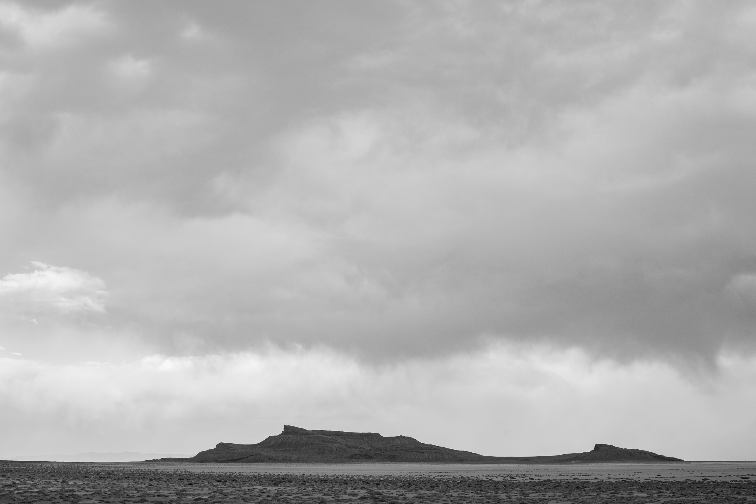 Floating Island near Silver Island Range, Utah. As ice-age Lake Bonneville dried up it left shoreline erosion markings, terraces, on the landscape in the Great Basin.