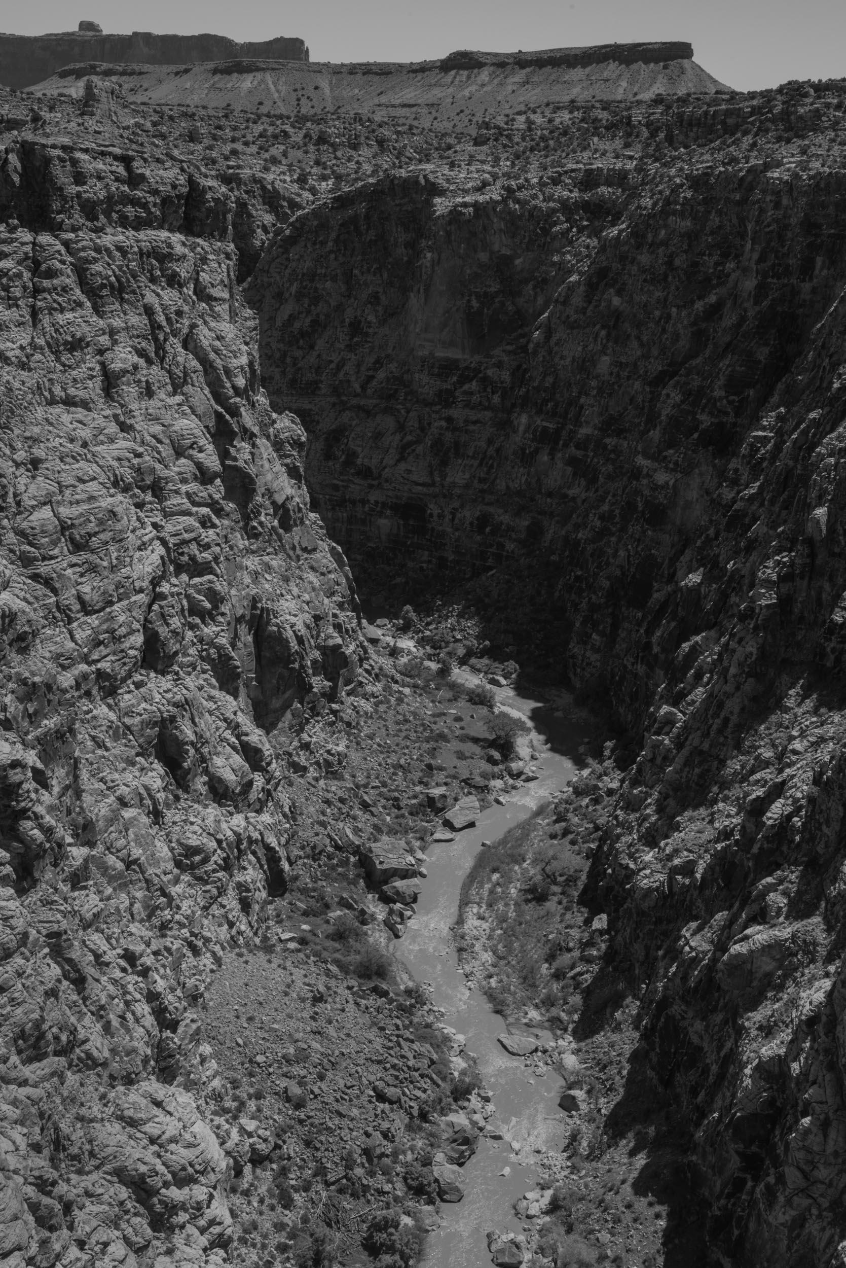 The San Rafael River has eroded the Black Box Canyon for 40 million years. San Rafael Swell, Utah.