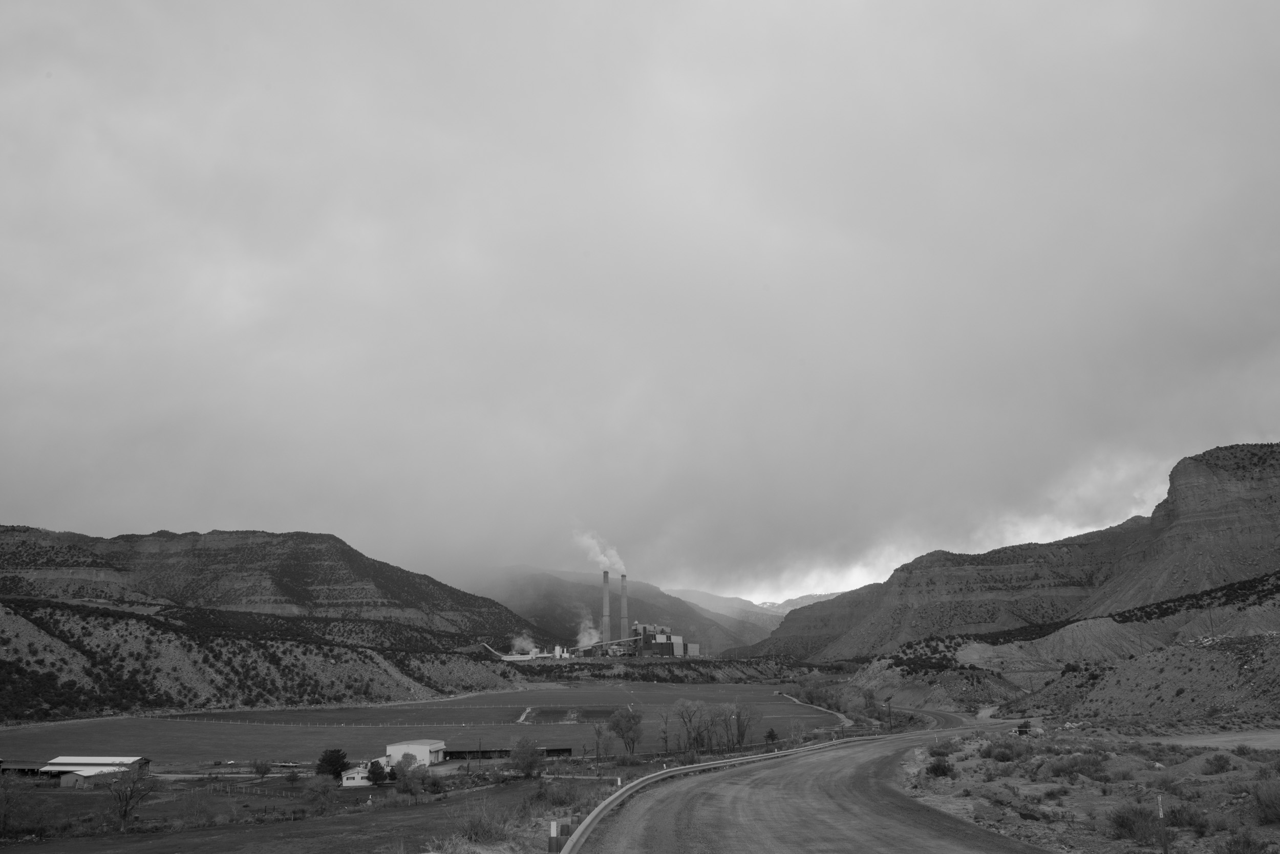 Huntington coal-fired power plant,Wasatch Plateau,Utah.