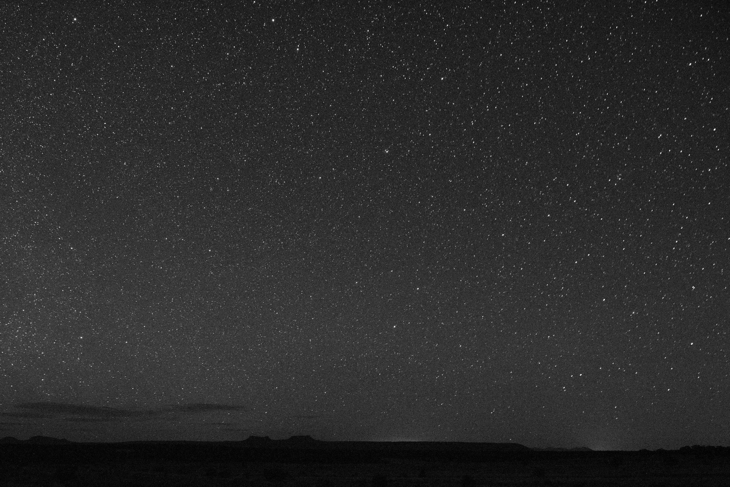 Bears Ears night sky. Looking north.