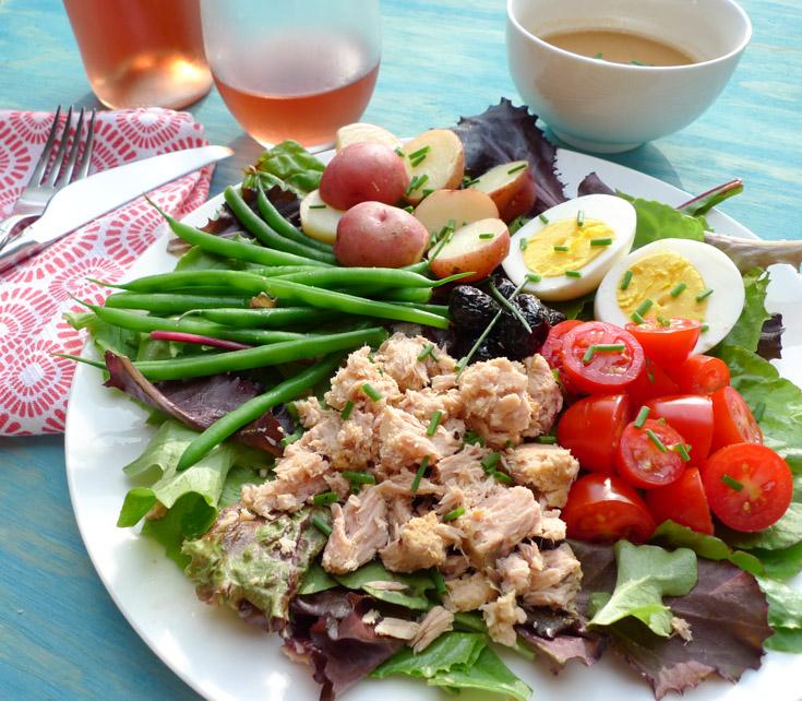 Salad Nicoise, low-FODMAP, gluten free