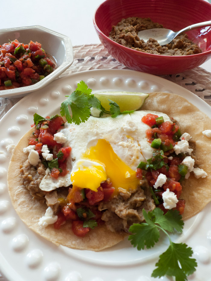 Huevos Rancheros and Low FODMAP Refried Beans