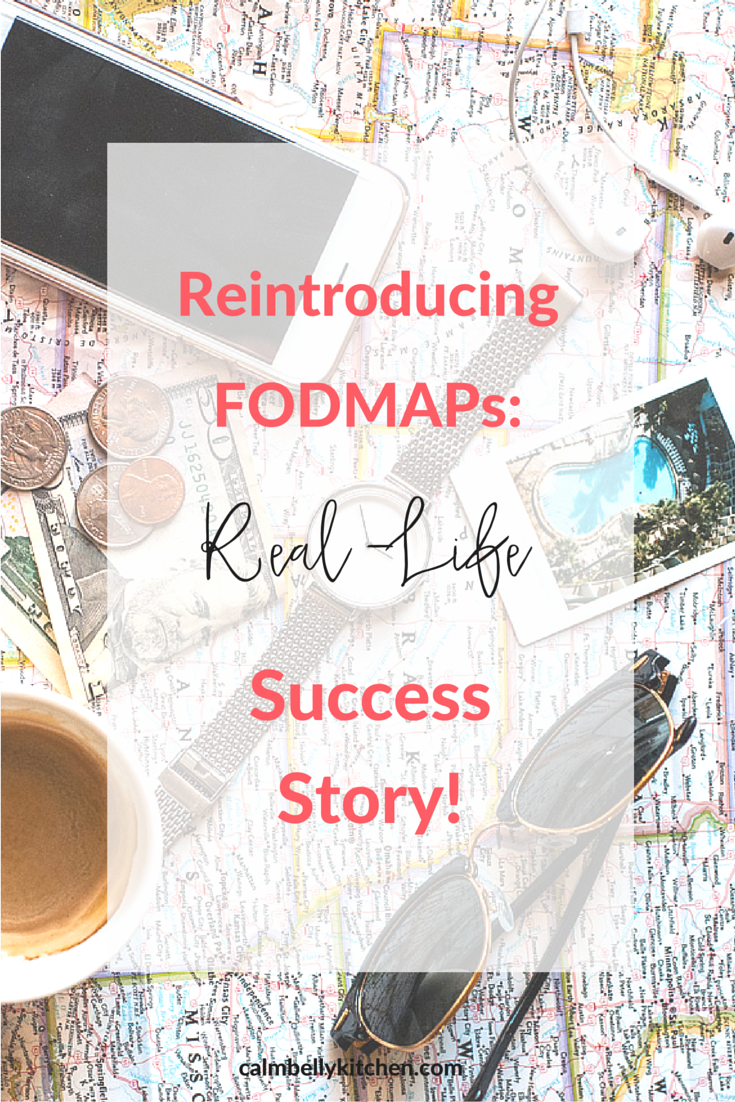 Reintroducing FODMAPs is the second and crucial phase of the low FODMAP diet. Read how one of my clients tested her fodmap tolerance, learned her trigger foods and trained for a half marathon all at once. Now she can cook great meals both her and her husband love and she has to the freedom to eat at restaurants because she knows her trigger foods. Click through to read her interview and success story!