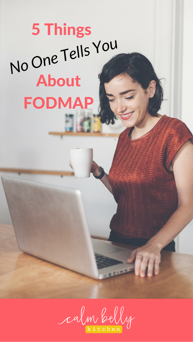 Don't do the FODMAP diet until you read this! When you're learning to eat for IBS, so many questions come up. It's east to get overwhelmed and lost in the details. Click through to find out what you can stop stressing over so you can start feeling better fast!