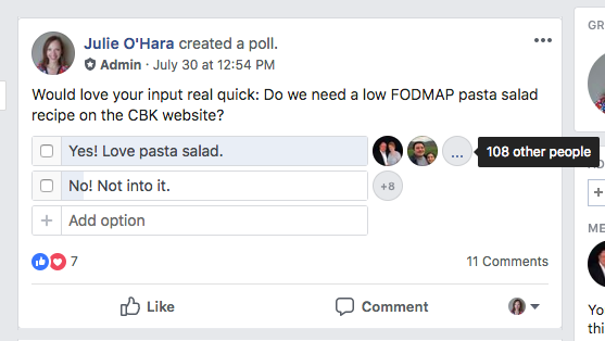 calm belly kitchen facebook group.png