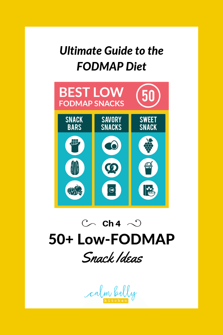 When you're also on the FODMAP Diet, you need low-FODMAP snacks that keep you satisfied, energized, and symptom-free. Get your printable list of over 50 Low-FODMAP Snack Ideas, including snack bars, savory snacks, and sweet snacks!