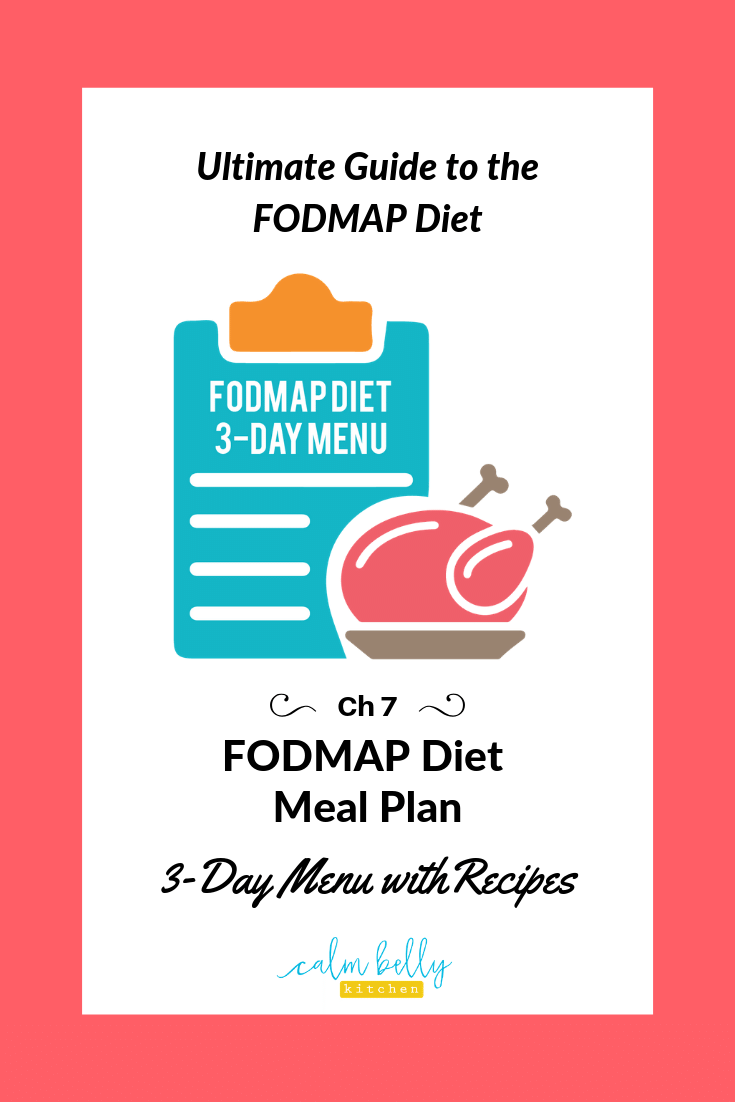 Fodmap Diet Meal Plan 3 Day Menu With Recipes Ibs Health Coaching And Fodmap Diet Recipes Calm Belly Kitchen
