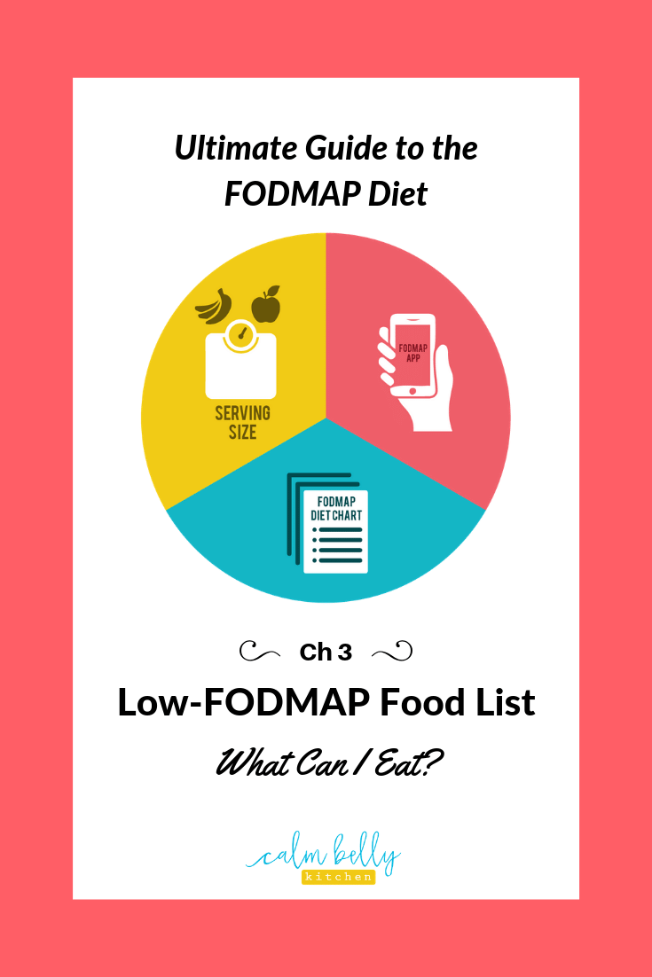 The FODMAP food chart on this page is designed to help you focus on all the delicious foods you CAN eat to relieve IBS. Download a free printable version of this chart to save as a quick reference!