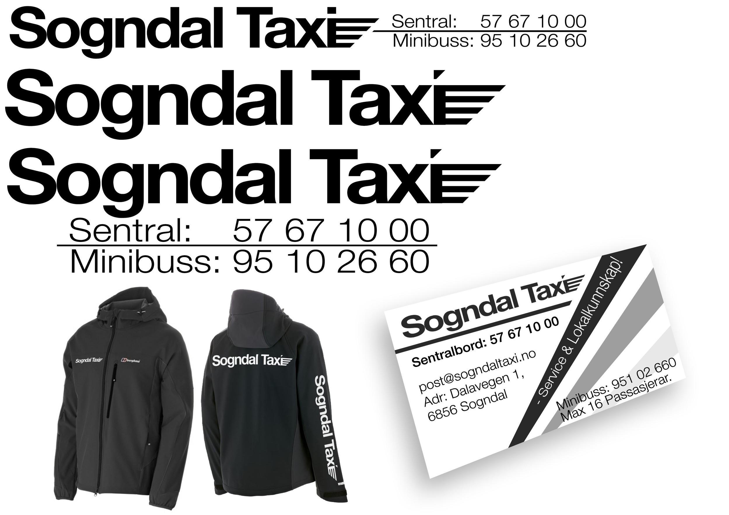Undervegs produktprøve for Sogndal Taxisentral, ikkje nødvendigvis sluttprodukt.