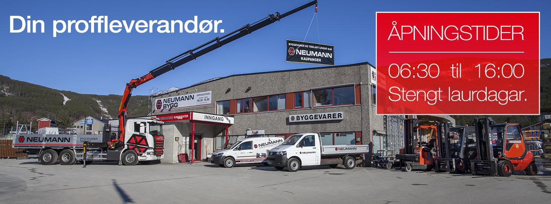 Facebookprofilering for Neumann Bygg i Kaupanger. Foto & design.