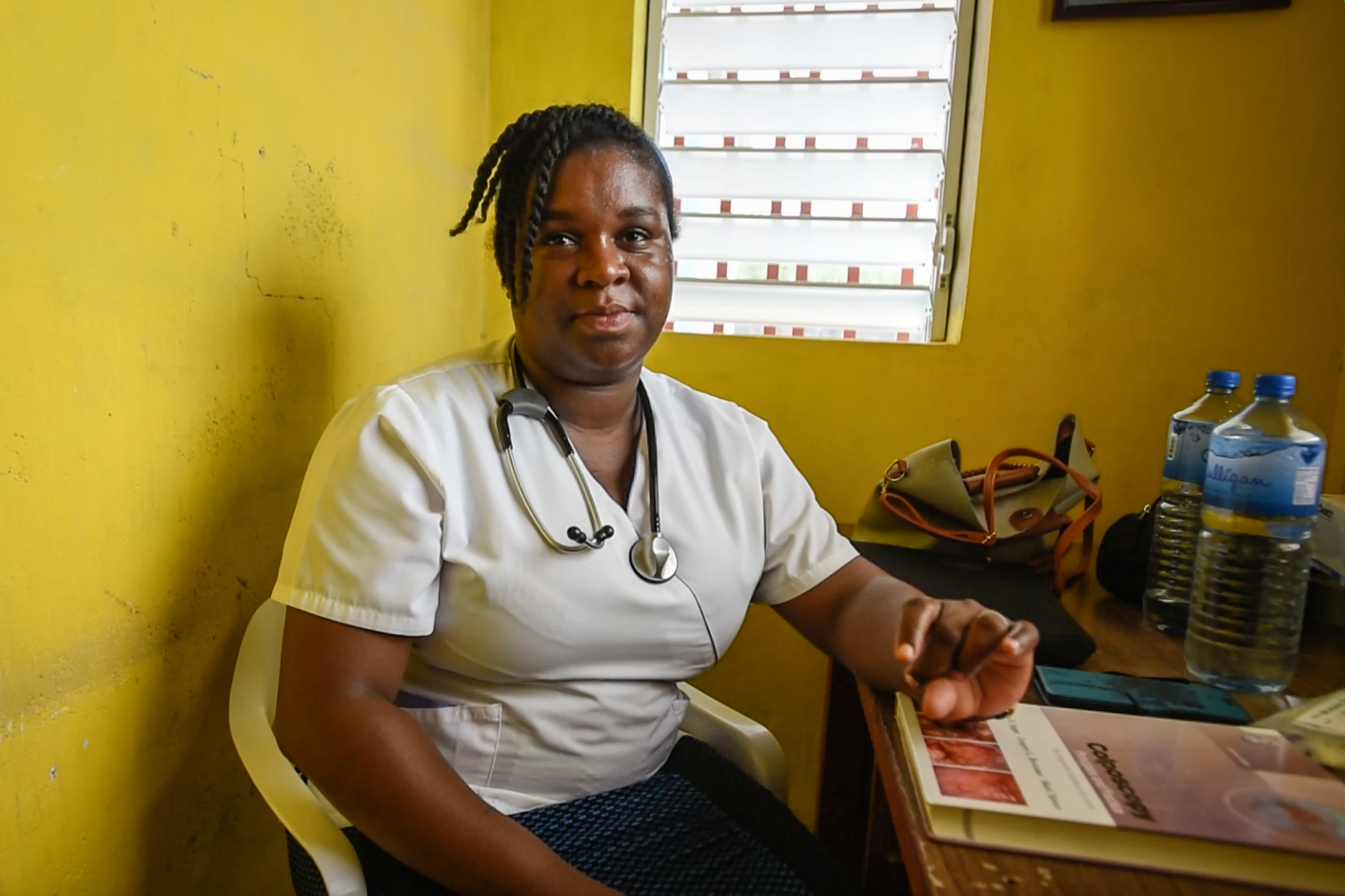 Dr. Fiquita St. Paul working in Jerusalem, Haiti.