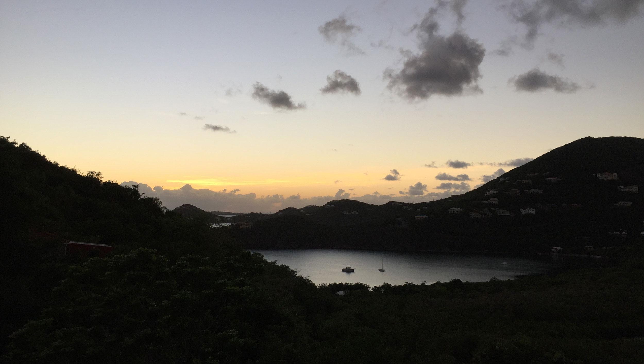 Beautiful St. John Sunset from Casa Del Palmas