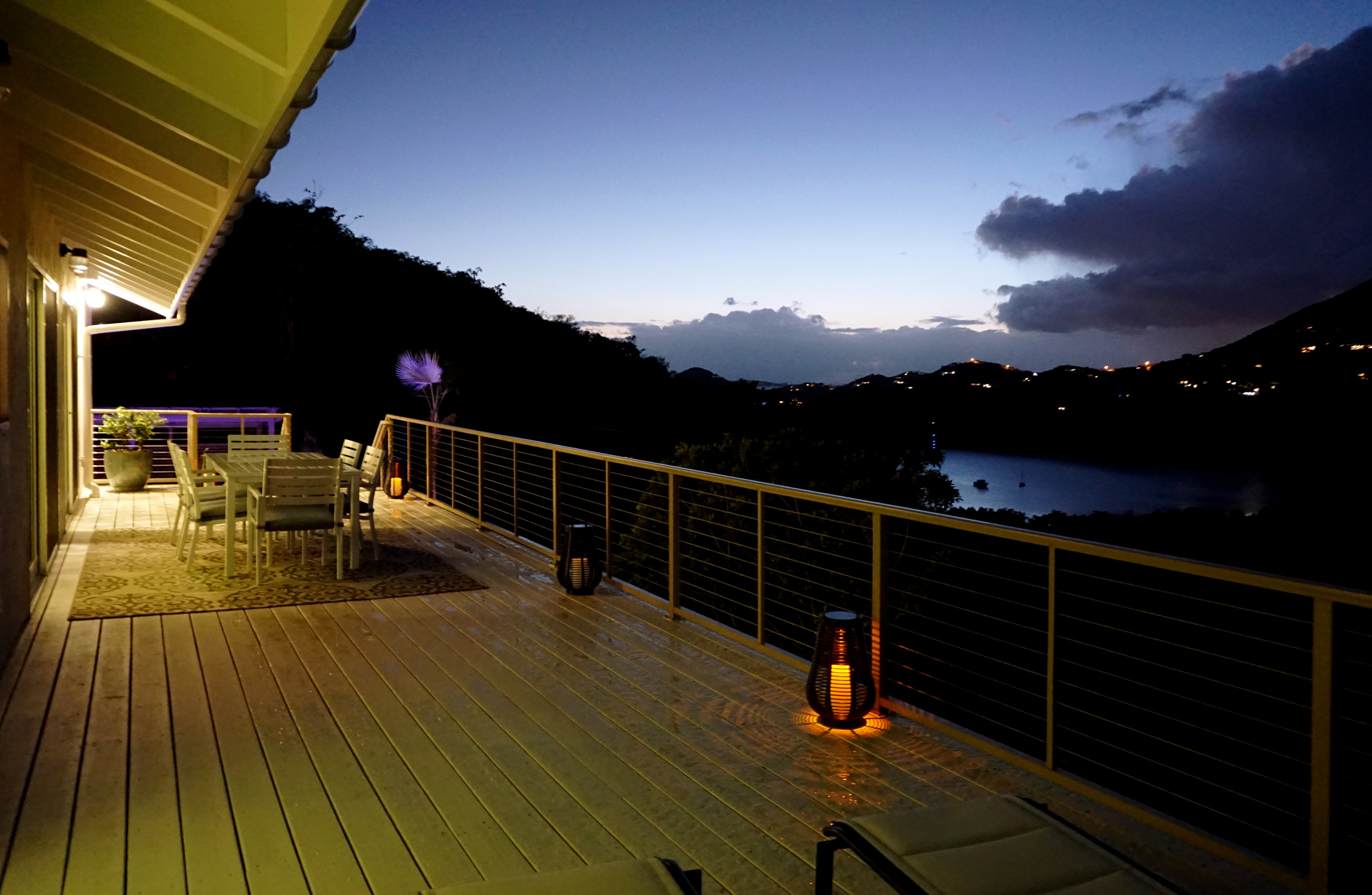 Main Level Deck at Sunset