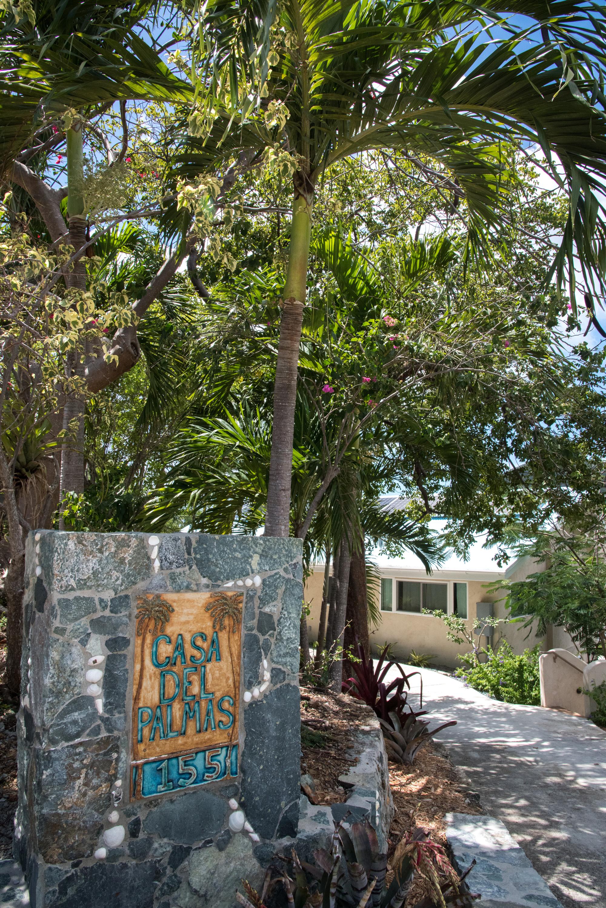 Casa Del Palmas Entry Way Sign