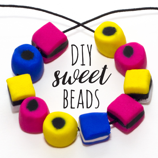 Craft your own beads out of fimo clay that look just like sweets! I love making beads from fimo, the colours are really bright and it's so easy to use! If you love liquorice allsorts and want to make some unique,colourful jewellery then follow the instructions below to learn how I made the square beads.