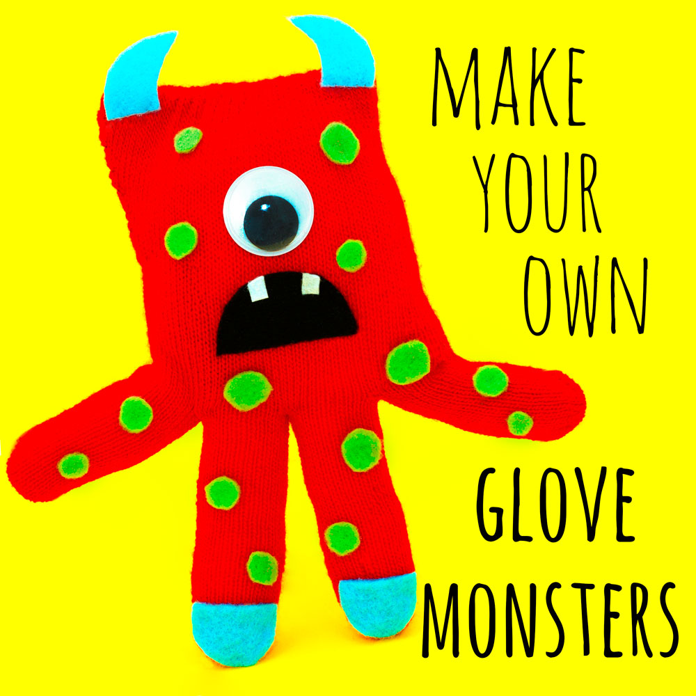 Got any old gloves lying around? Then make your own glove monster with this fun kids craft tutorial! Your children can craft their own monster soft toy out of their old gloves. Pin the image to save the idea for later!