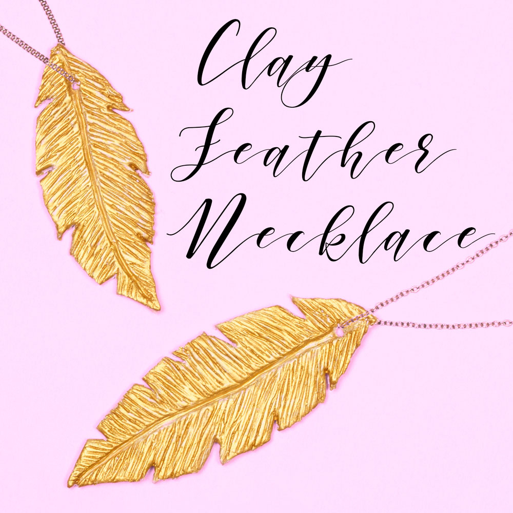 Make your own beautiful gold feather necklaces out of air dry clay. You could even make them as a lovely DIY gift to give to a friend. This craft is surprisingly simple and lots of fun!