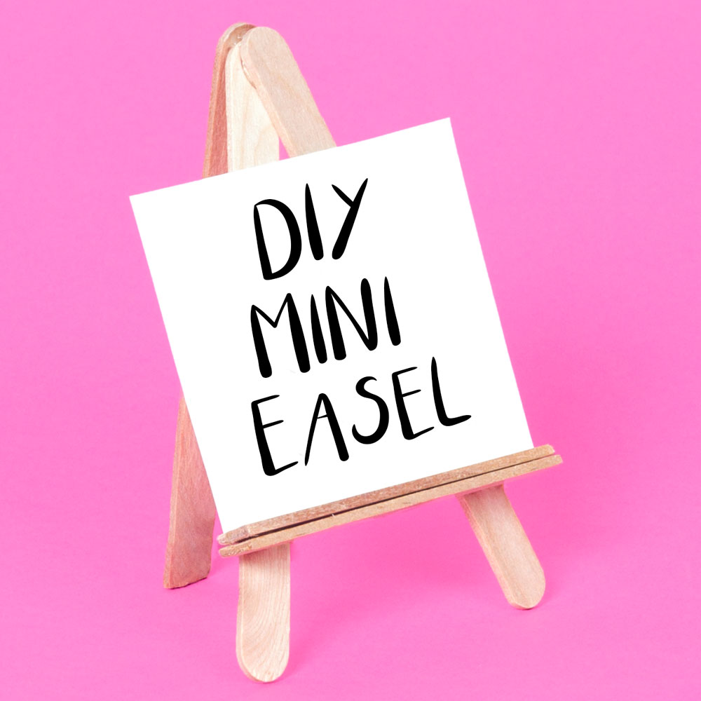 This craft tutorial shows you how to make a mini easel out of lolly sticks! Once you have made your own DIY wooden easel you can use it to display your drawings and paintings. This is a great craft for kids as it is nice and simple.