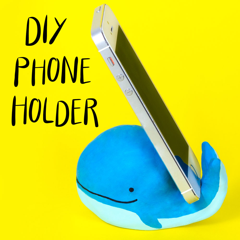 Make a fun whale phone holder out of air dry clay. This simple craft is great fun and you can keep it forever to prop up your phone! You could make these phone holders as DIY gifts to give to friends and loved ones.