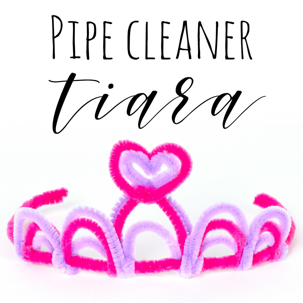 Make a pretty tiara out of pipe cleaners. This is a great craft idea for little girls - it would be perfect for a princess party or DIY fancy dress!