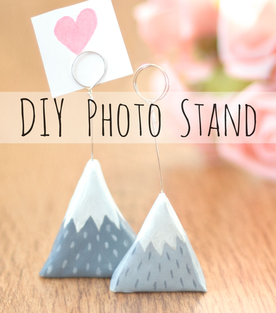 You can make these cute Scandinavian photo stands from air dry clay and wire.  Instructions here .