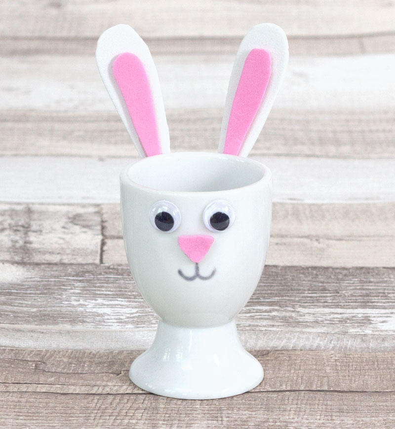 easter bunny eggcup craft