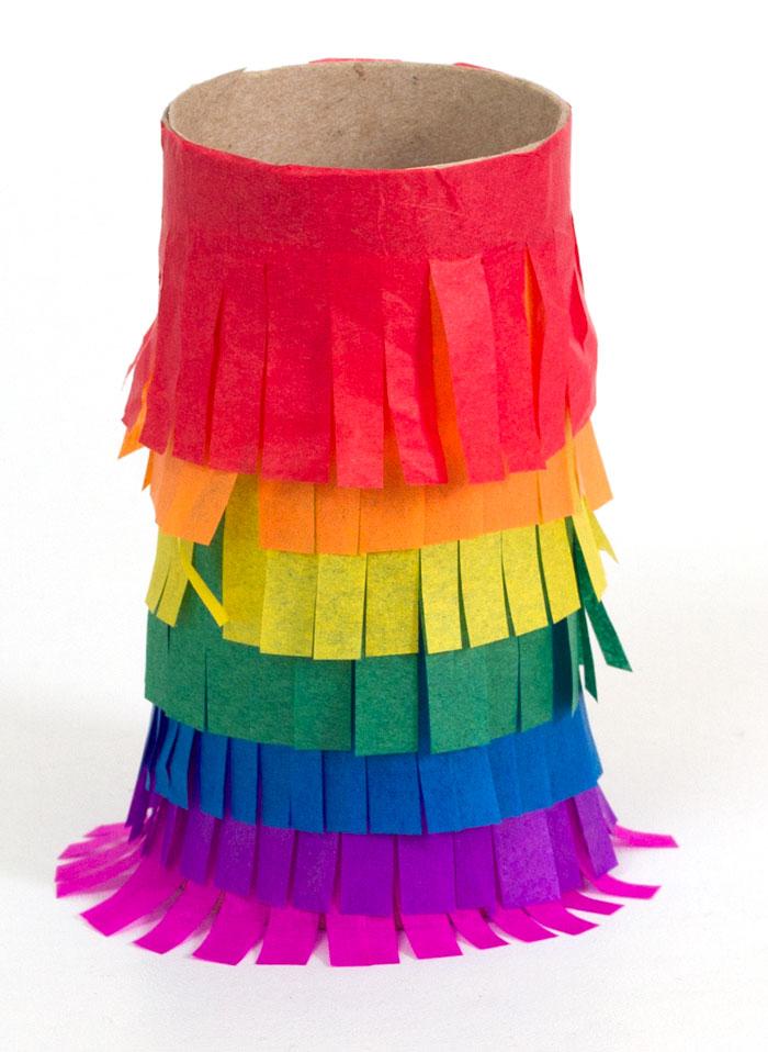 rainbow piñata craft