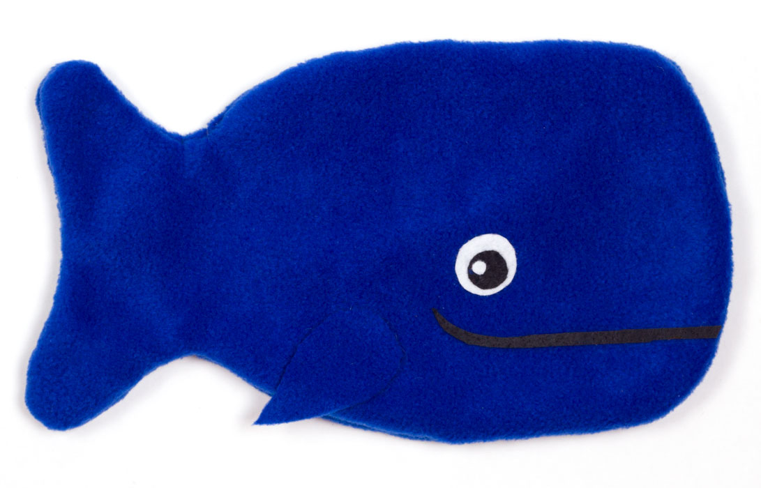 DIY whale hot water bottle cover craft