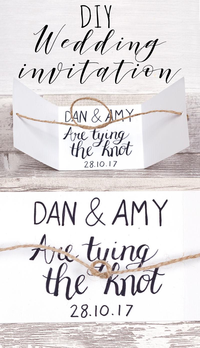 Diy Tie The Knot Wedding Invitation
