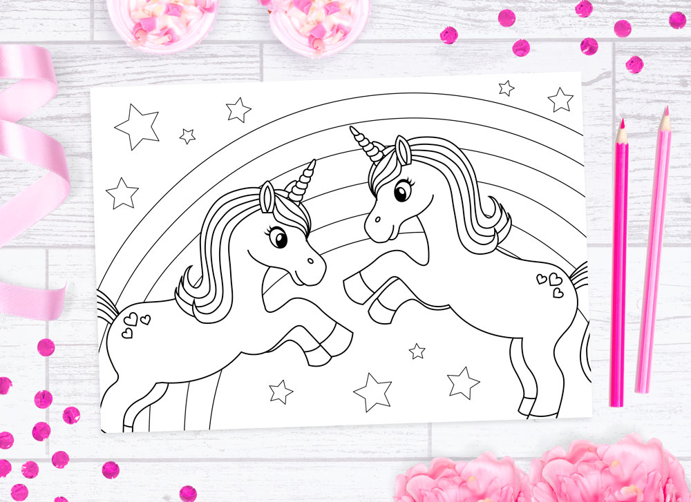 FREE Unicorn Colouring Sheets — Doodle And Stitch