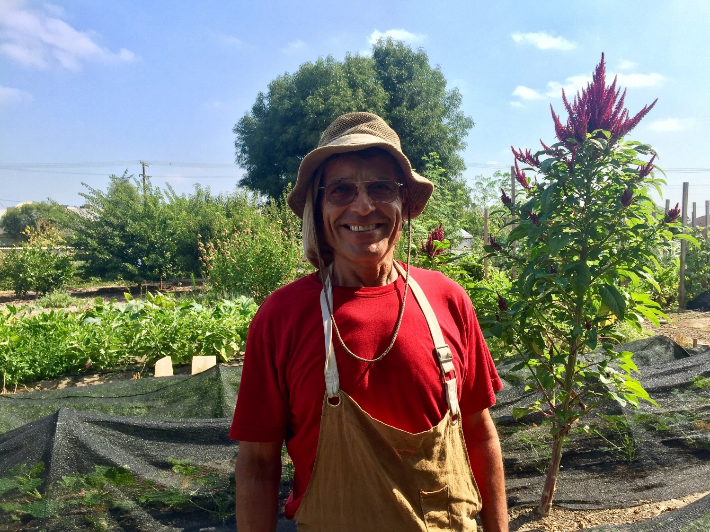 Albert at GrowGood's farm on Aug. 5, 2017