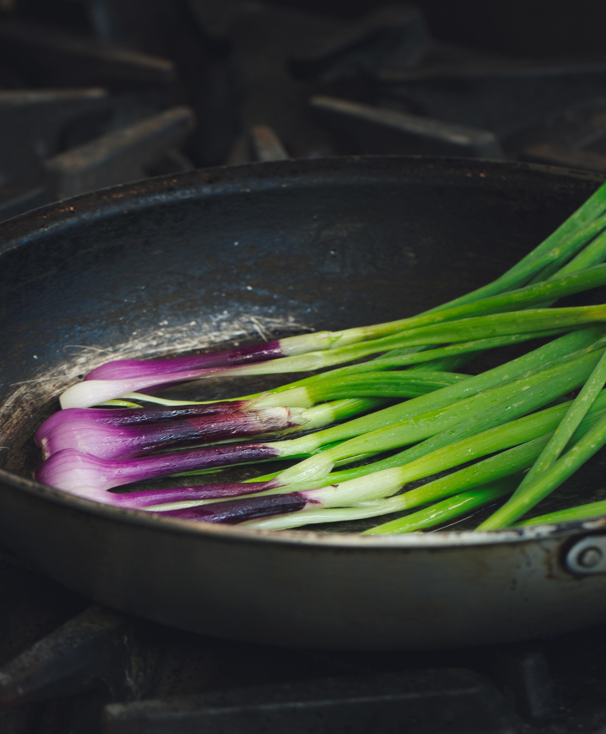Sautéing Purplette Onions straight from the farm