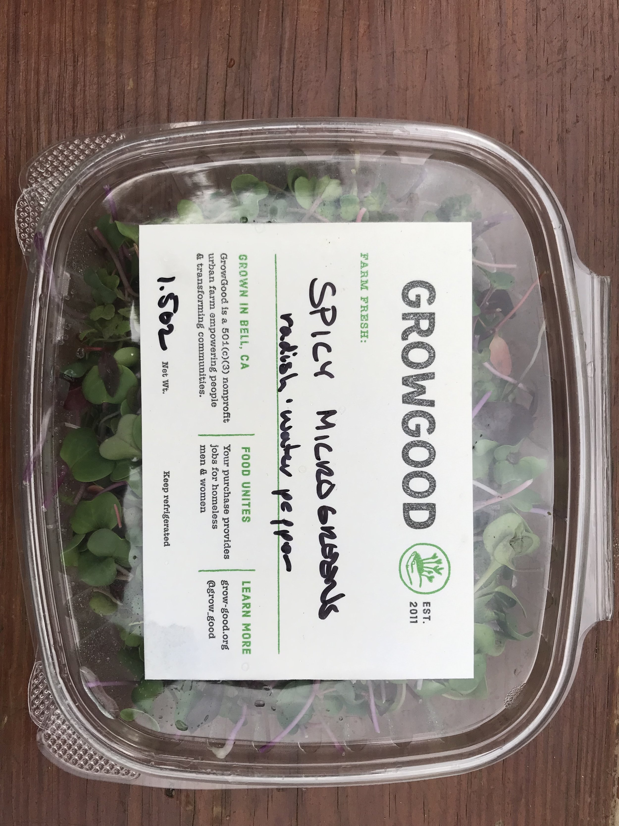 GrowGood microgreens at Cookbook Market in Highland Park